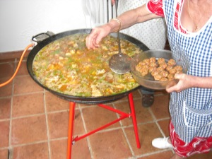 And now the albóndigas