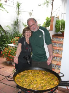 Pepe made a paella and we helped...eat it.