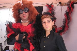 Pepe and his son, Jaime, ready for a masquerade party 3 or 4 years ago.