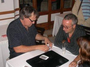Pepe with Lennart Green, a world class card artist.