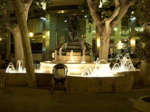 The fountain in the little plaza near our apartment.