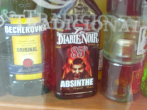 We passed up the chance to buy a bottle of 170 proof Absinthe.