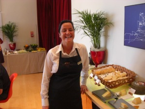 Our lovel waitress who served us lunch on Saturday and brunch on Sunday.