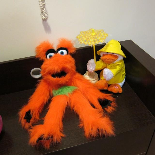 Orange McGlad and Dickie Duck